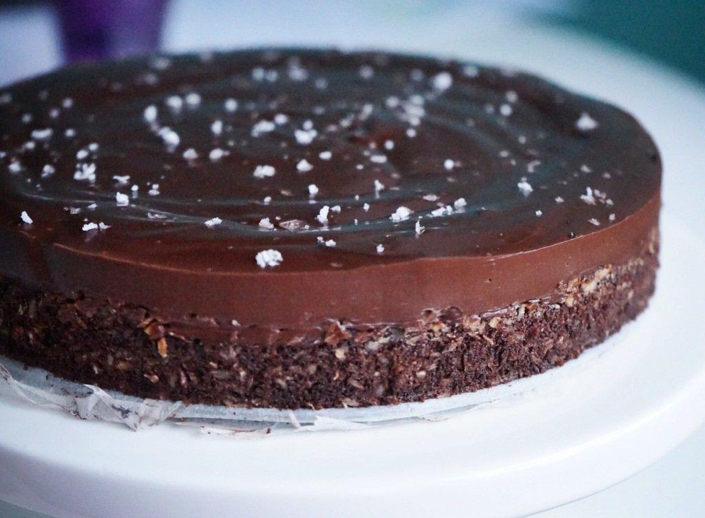 chokladtryffel med flingsalt