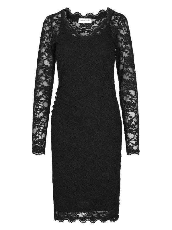 Rosemunde svart spetsklänning fram