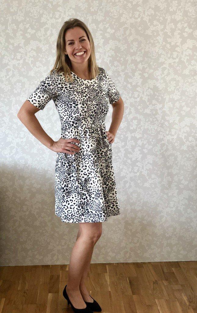 Leopardklänning Pernilla Wahlgren, Storlek: S Pris: 400kr