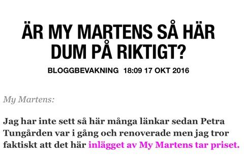 My Martens bloggbevakning