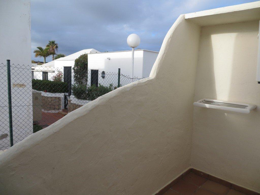 Vår lilla balkong där vi mest hängde tvätt.