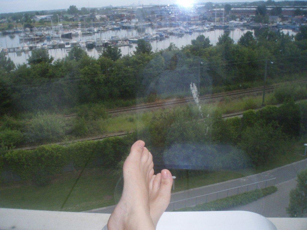 Utsikt från relaxrummet.