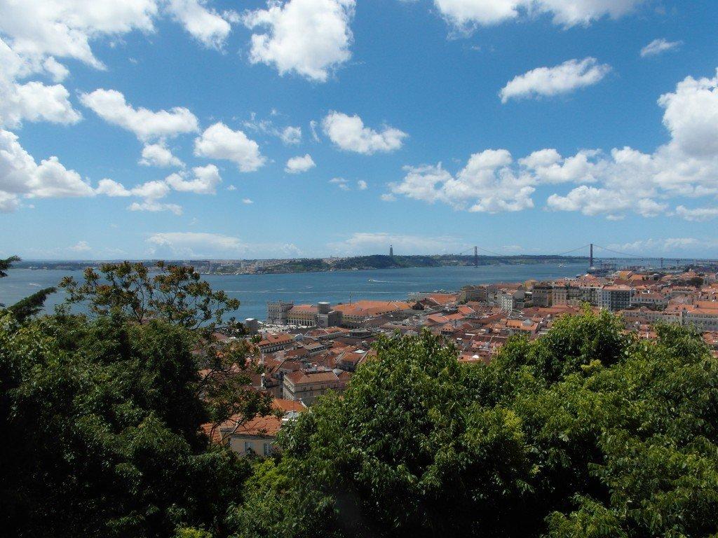 Fantastisk utsikt från Castelo de Sao Jorge.