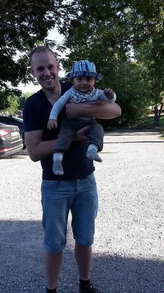 Alfred träffade en ny lekfarbror! Jonathan från Bonde 2014.