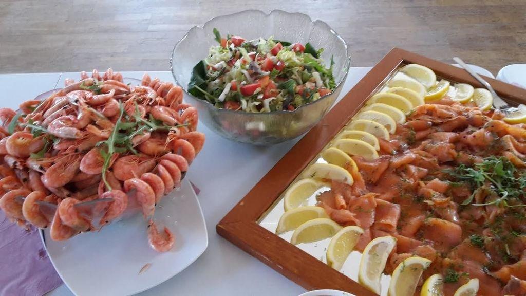 Lite av den fantastiska middagen på Dam-Mingel, lagad av inhyrda kocken Herbert Forster!