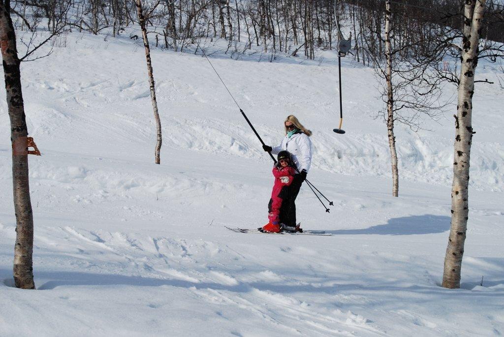 åka skidor med barn i sele
