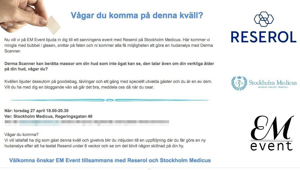 Inbjudan Reserol och EM Event-2