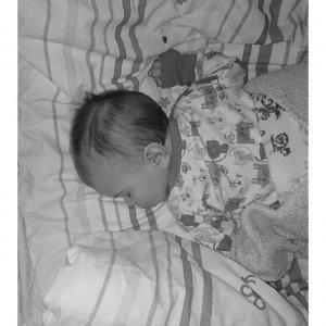 Äntligen sover han