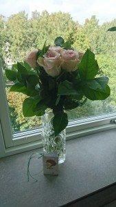 Blommor från Henriks jobb.