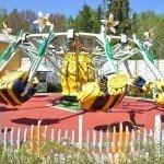 Första karusellen vi åker.