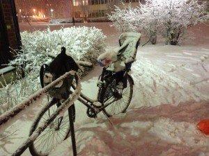 Snö cykel