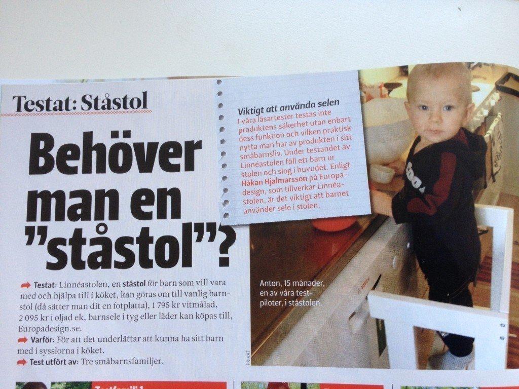 Vi Föräldrar Testfamilj, Ståstol, Linneastolen