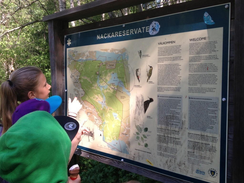 Björkhagen, Karta, Nackareservatet