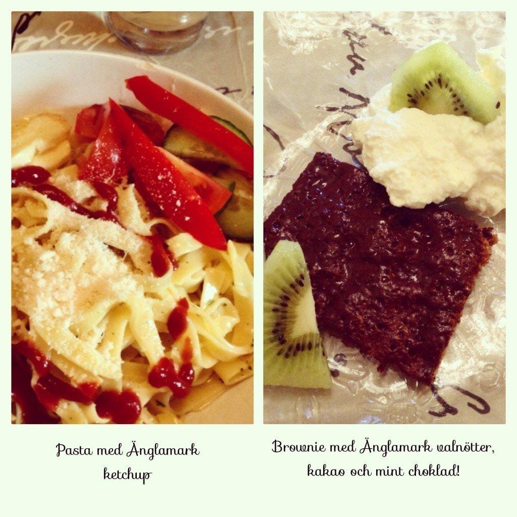 Änglamark, Pasta, Brownie