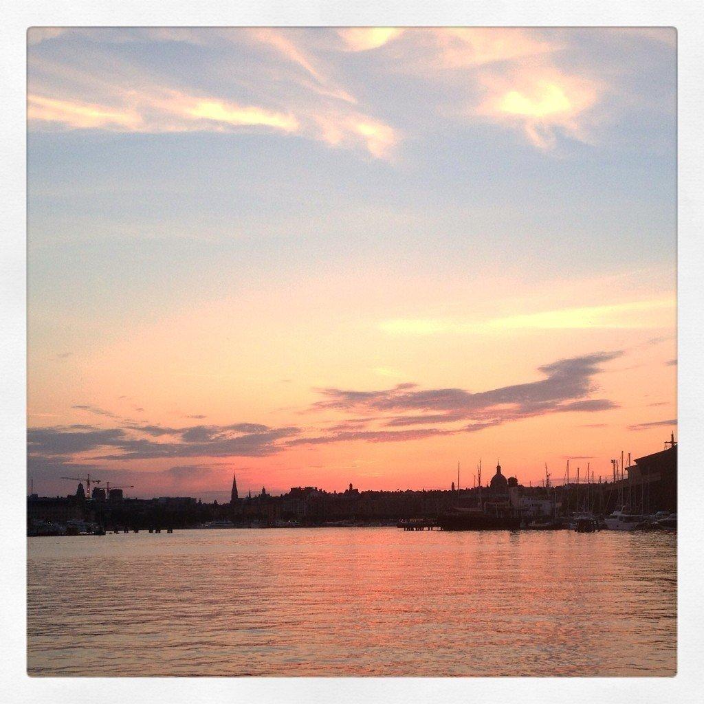 Solnedgång, Stockholm