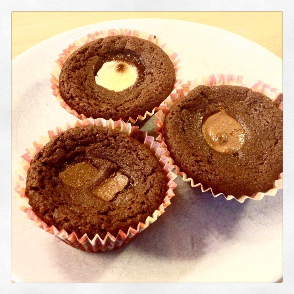 Muffins, Recept, Kladdkaka