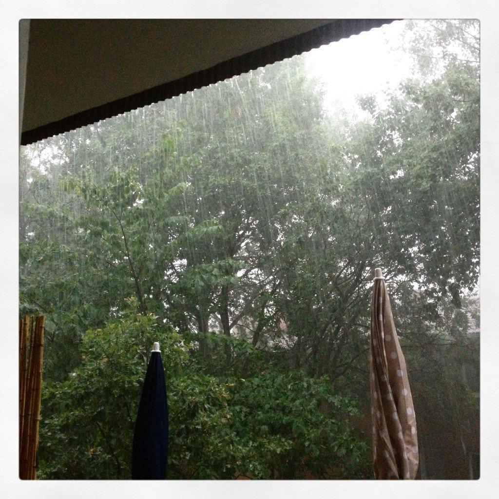 Oväder, Blixtnedslag, Regn, Storm, Åska