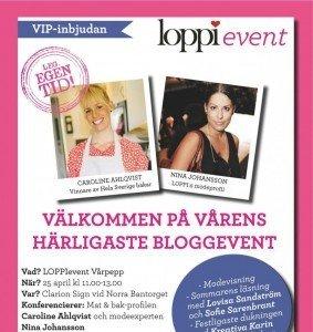 LOPPIevent, Vårpepp, LOPPI, Fotohella, Blogg
