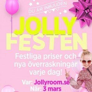 Jollyroom, Jollyfesten, Erbjudanden, Överraskningar, Låga priser