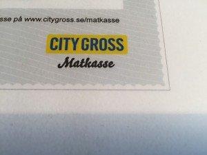 City Gross, Matkasse, Mammakryssning 2016