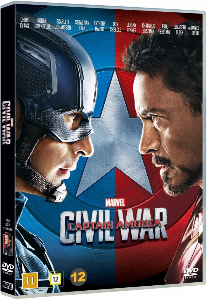 Captain America Civil War, Marvel, DVD, release, Blogg, Fotohella, Allt för föräldrar, Tävling, Vinn, Tips, Bloggtävling