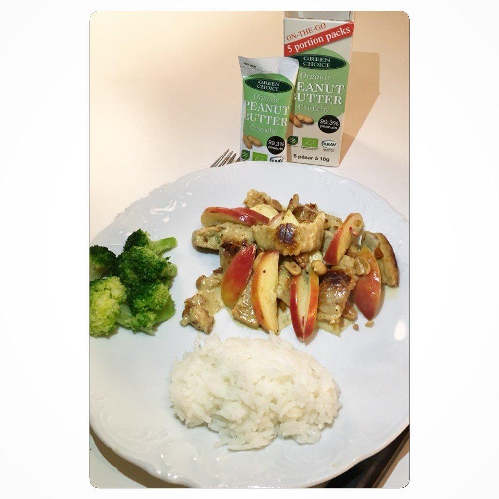 Recept, kyckling i jordnötssås, kycklinggryta, tips, blogg, fotohella, veg, vegetariskt, veggie, quorn