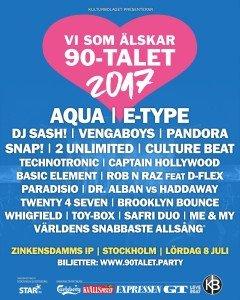 Vi som älskar 90-talet, festival, 2017