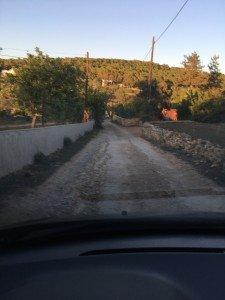 Grusväg på Ibiza