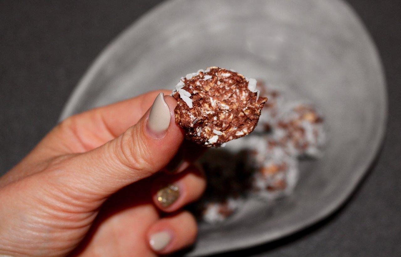 chokladbollar med kvarg