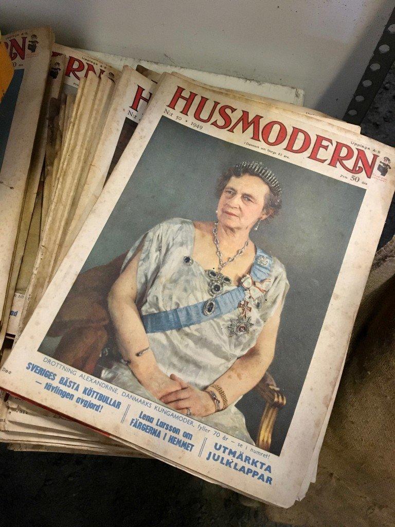loppis_fynd_husmodern_gamla_tidningar_tidskrift_frulilja