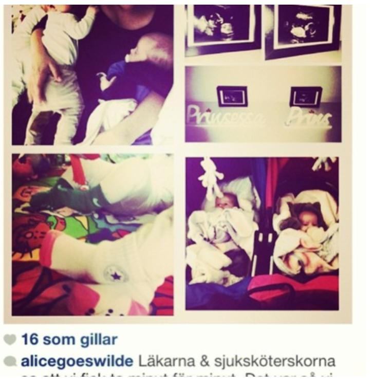 Några av bilderna på barnen (och mig) h*n stal och använde som sina egna :*(