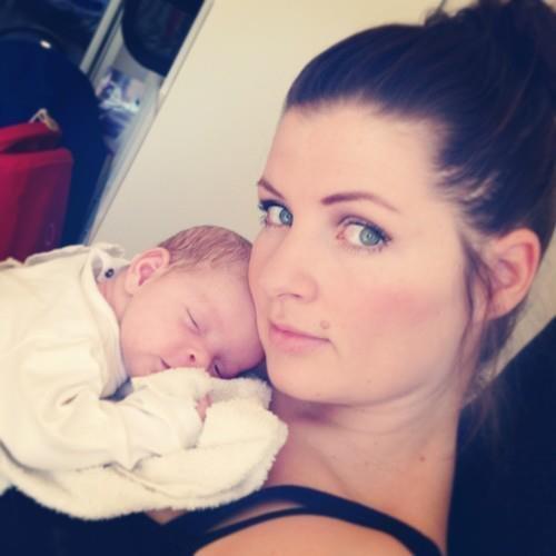 Jag och liten nyfödd Tyra