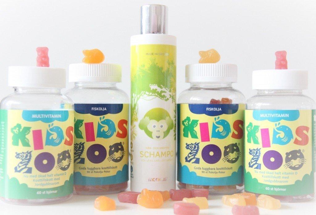 Fyllde på lagret av multivitamin och fiskolja till barnen från Kids zoo som nu går under namnet monkids. Fick även med mig en av deras nyheter hem, shampoot