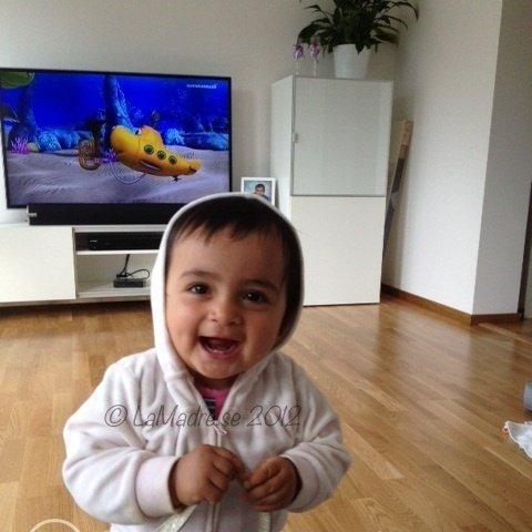 smile glad lycklig bebis kiana