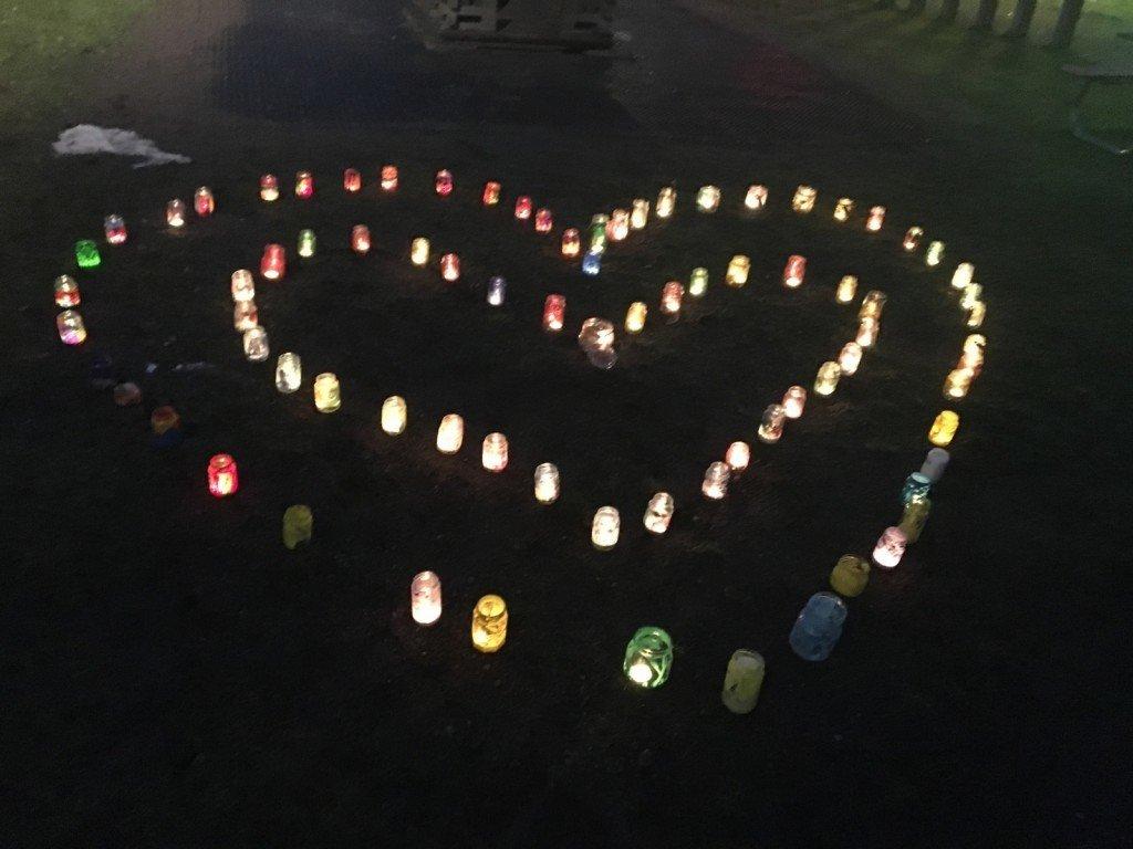 love karlek hjarta varmeljus lyktor barnensdag internationella barndagen