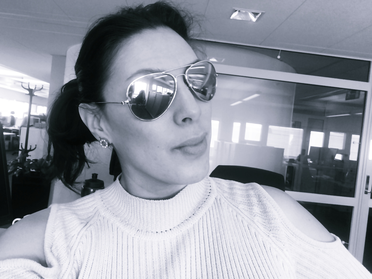 at_work_selfie_blackandwhite