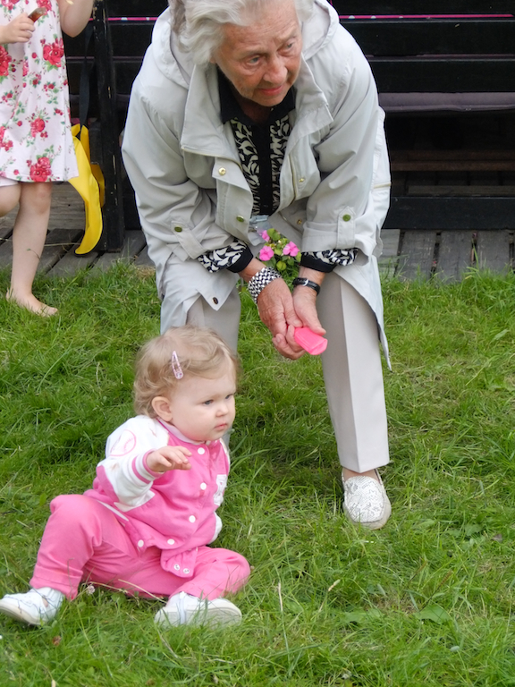 Edith med min farmor.
