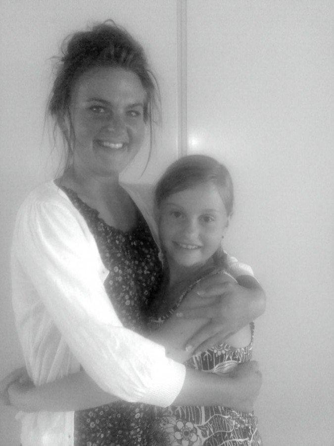 Jag och min lillasyster Olivia. Herregud! Jag kan knappt minnas att hon har varit så liten.