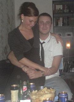 Fest i Christoffers lägenhet när han fyllde 25 år.