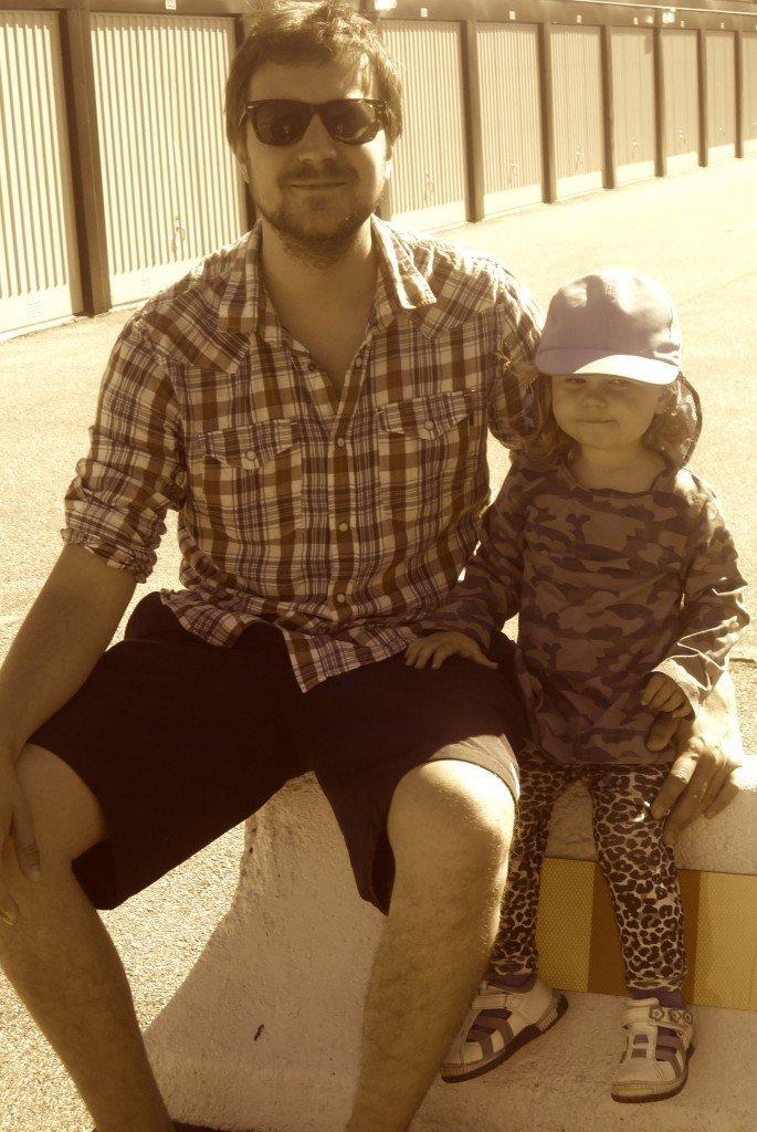 Min man & dotter.