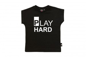 Svart t-shirt play hard