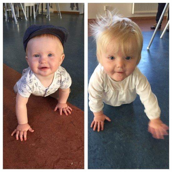tvillingar 1 år