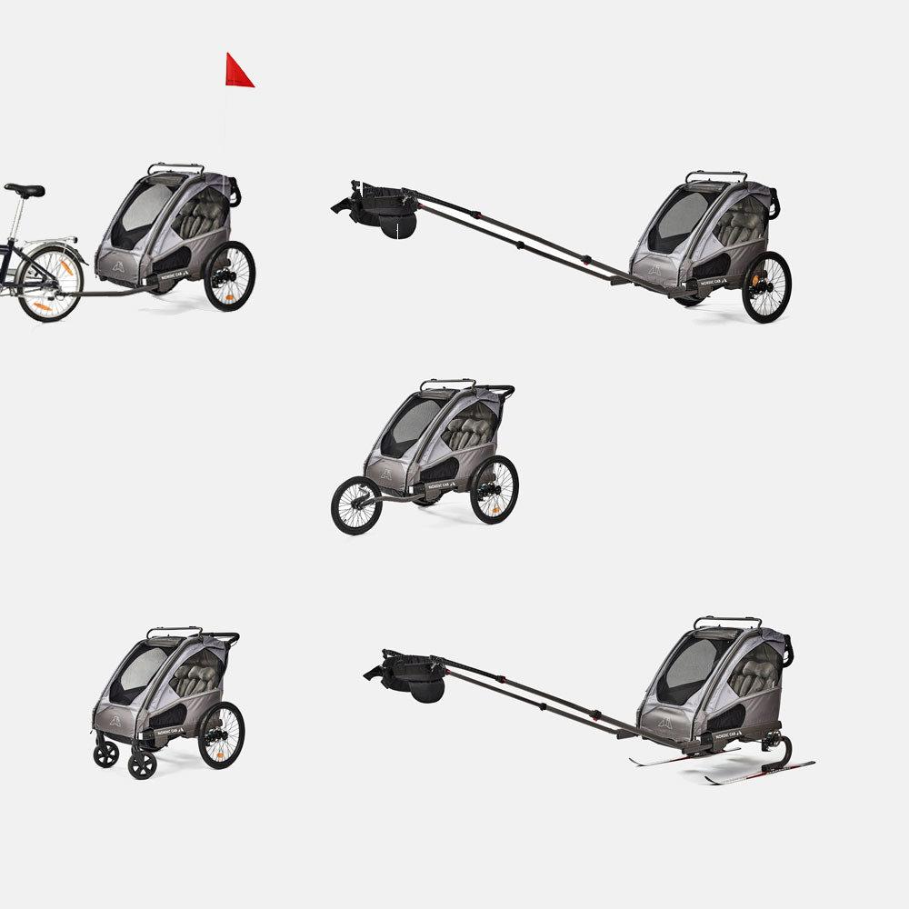 Nordic Cab Barn- och Cykelvagn Urban 2 i 1
