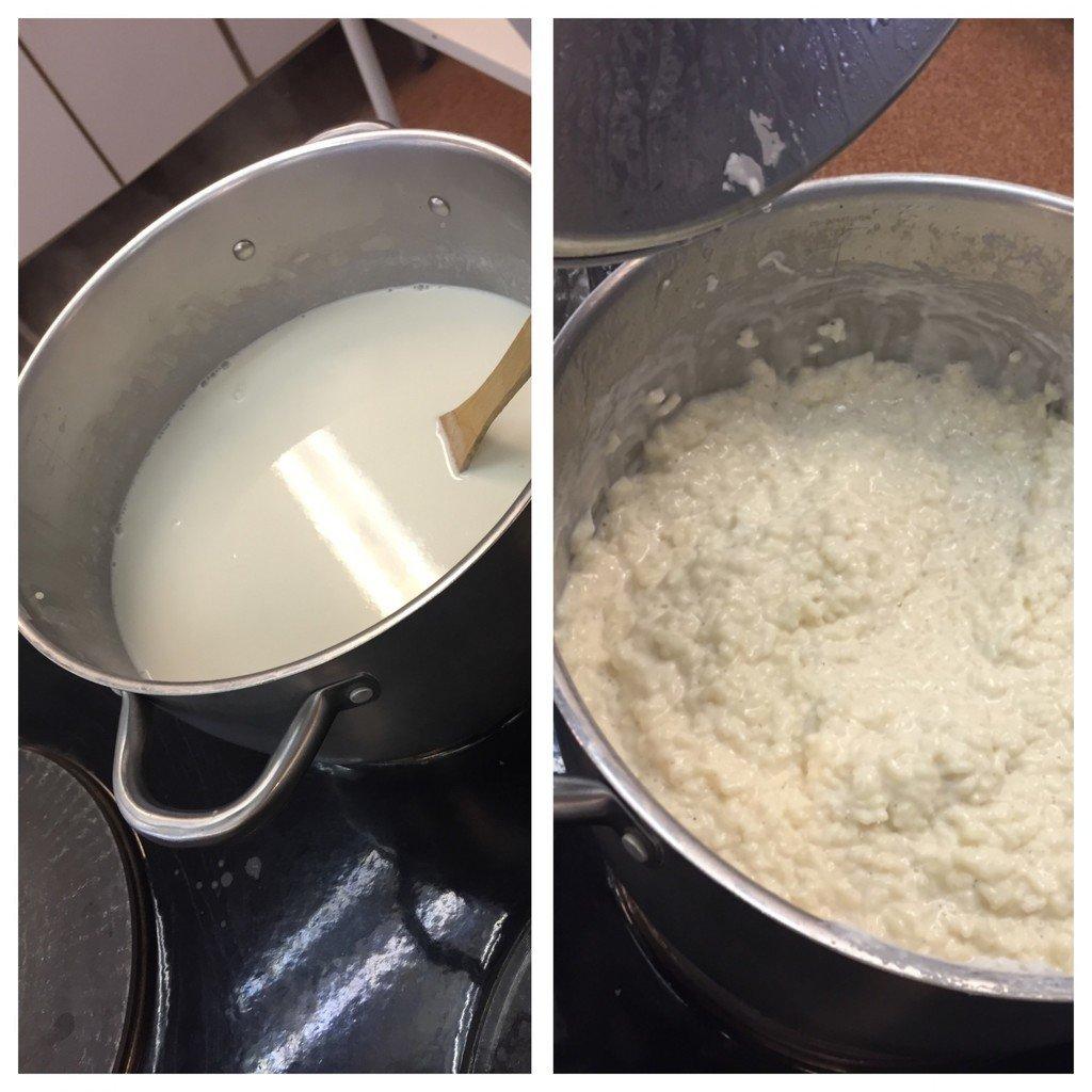 koka risgrynsgröt utan att bränna den