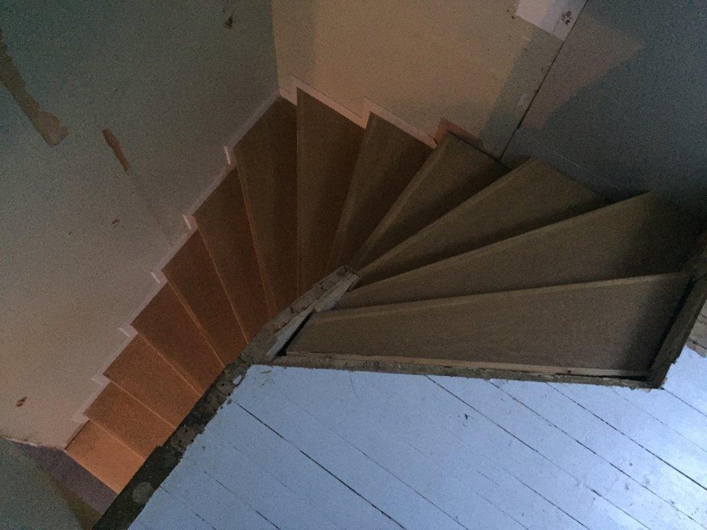bygga upp en trappa