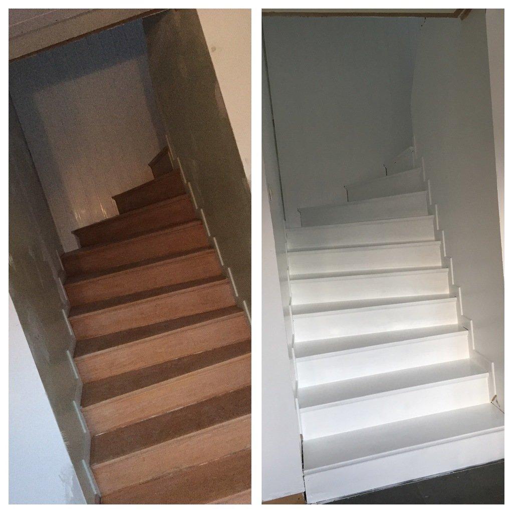måla gammal trappa