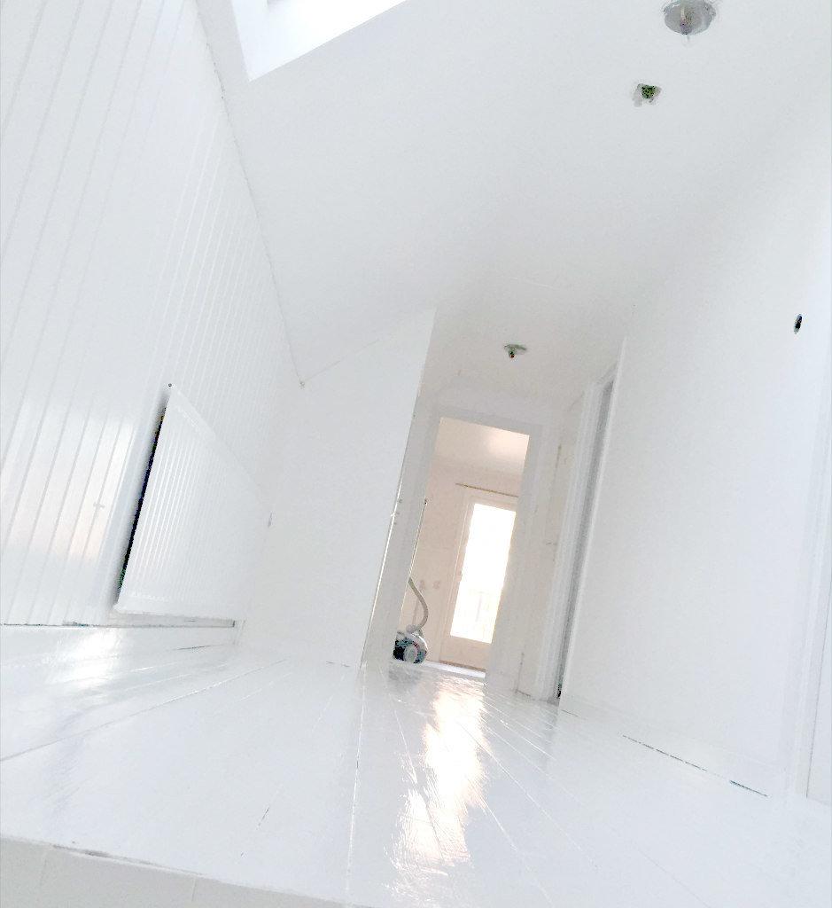 Måla golv vitt