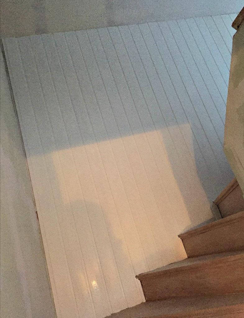 måla panel vit