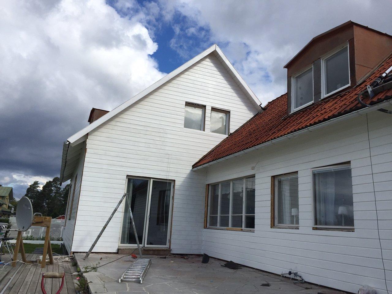 måla huset vitt