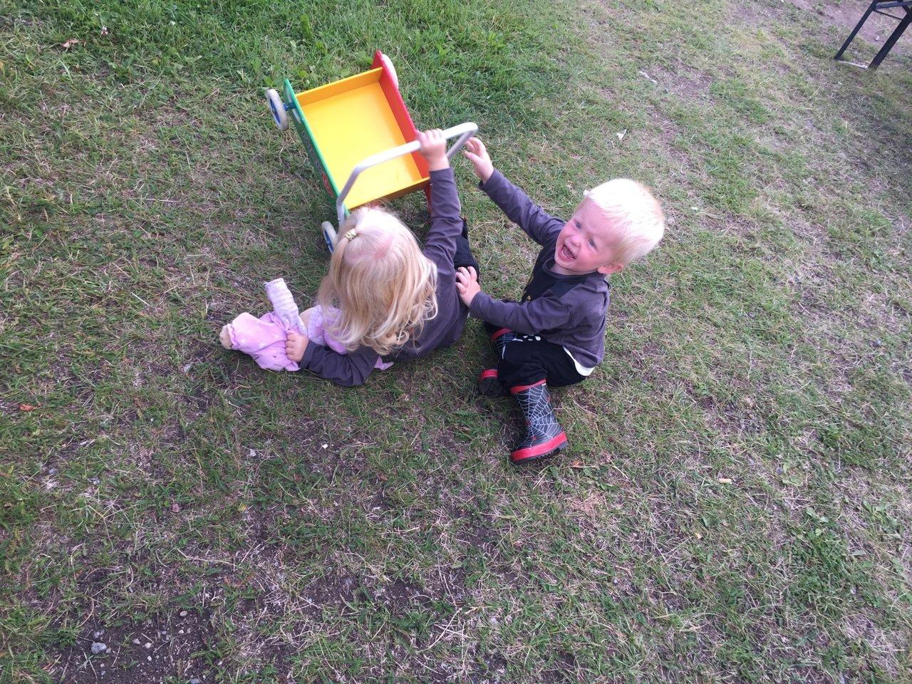 tvååring slåss